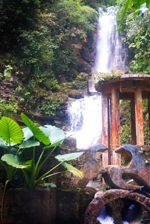 Waterfall at Las Pozas