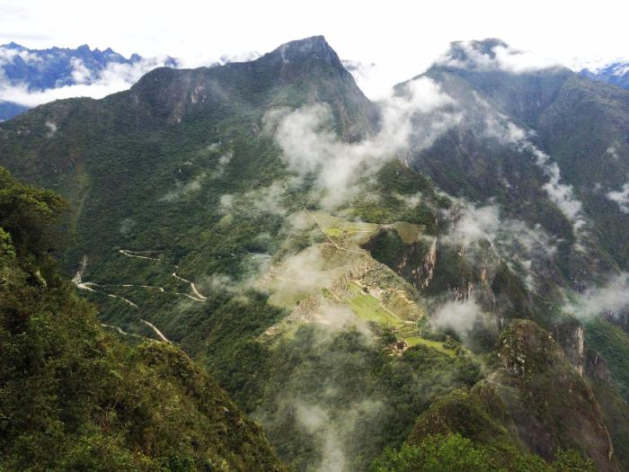 The view from Wayna Picchu