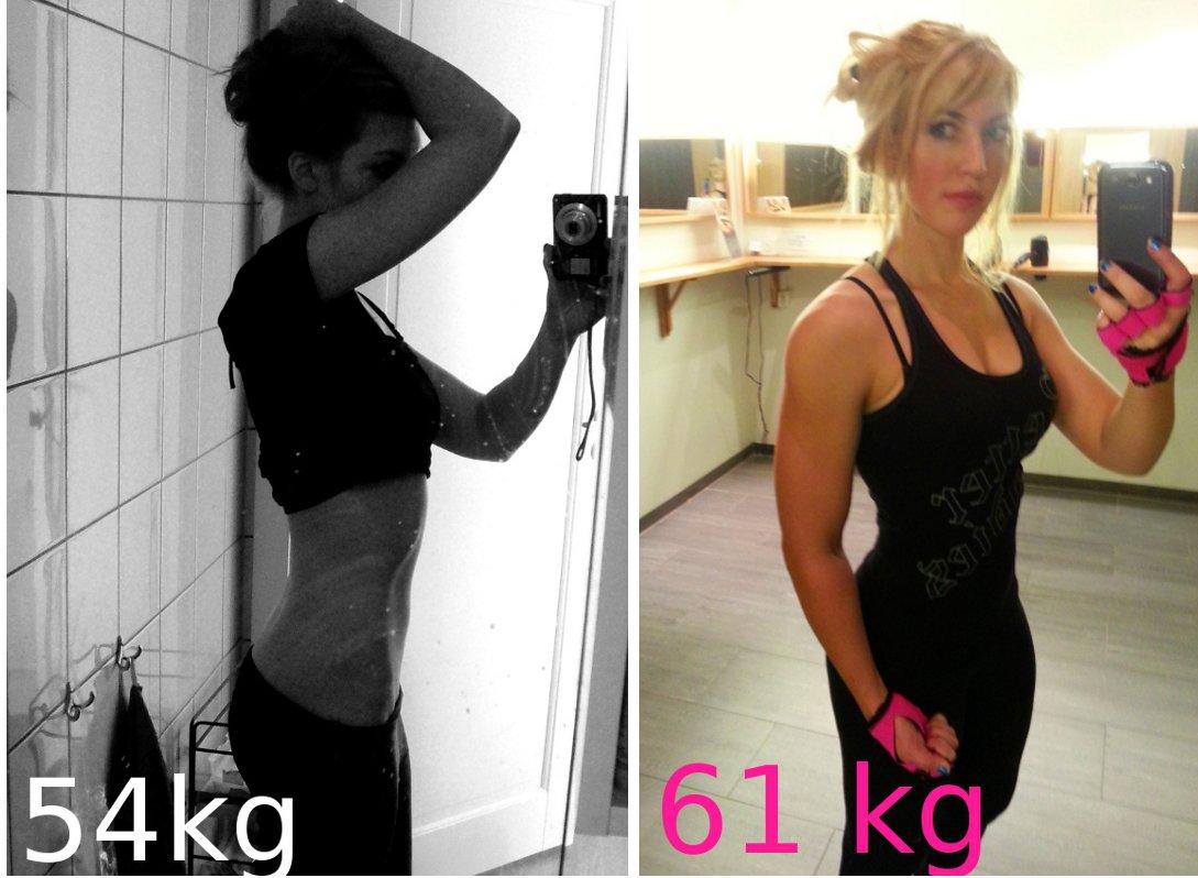 gå ner i fett och bygga muskler