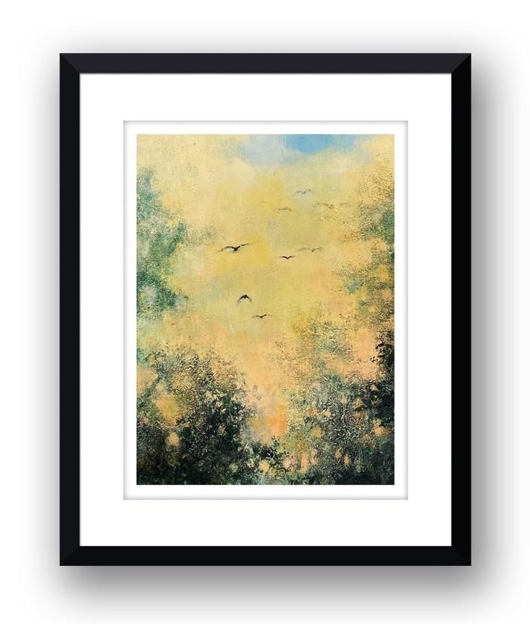 setting sunMartin Allan artist and printmaker prints art images sunset framed print