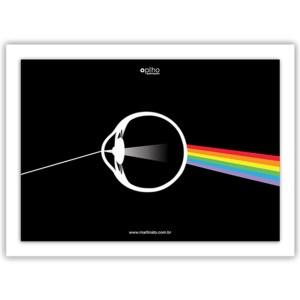 quadro prisma olho martinato decoração óptica