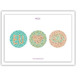 poster-daltonismo-com-moldura-decoração-oftalmo