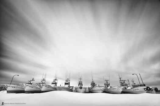 Souya Harbour Boats on a Sea of Snow
