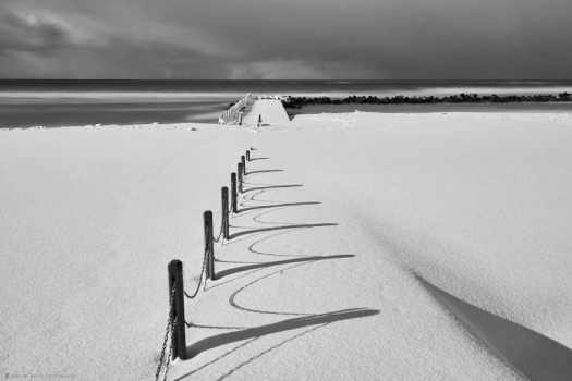 Snow Beach Fence