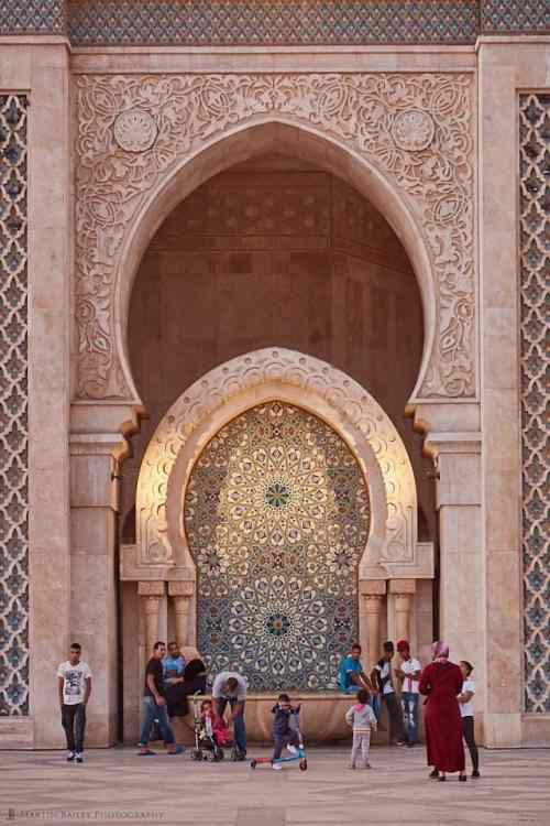 Hassan II Mosque Archway