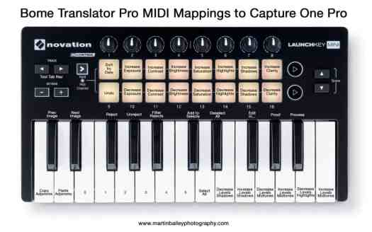 Novation Launchkey Mini to Capture One Pro