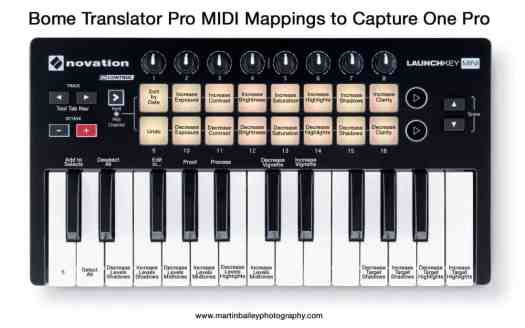 Novation Launchkey Mini to Capture One Pro +1 Octave