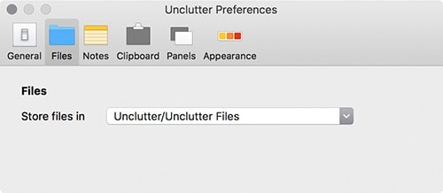 Unclutter Folder Selection