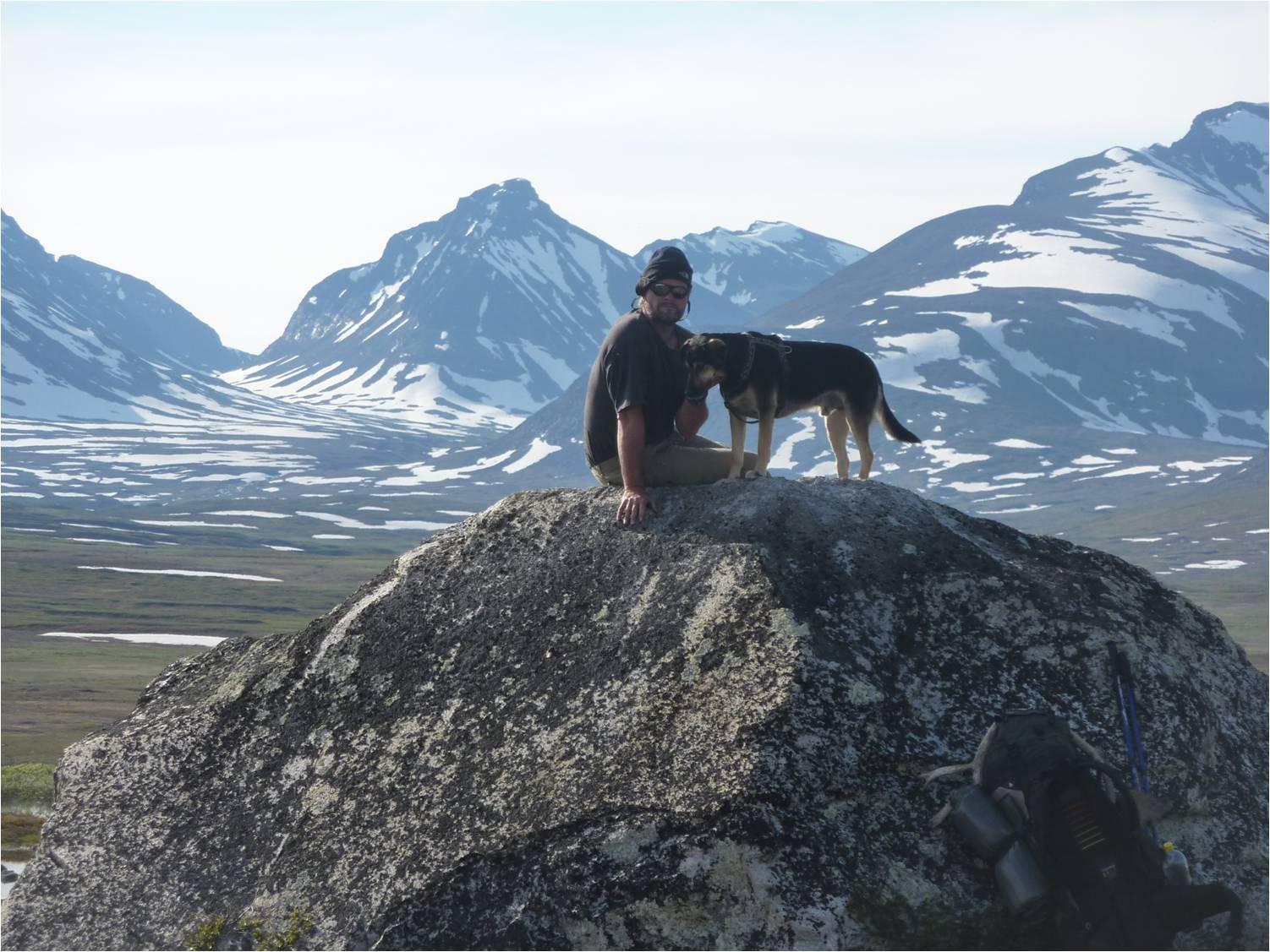 Martin Balluchs und sein Hund