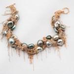 Bracelet, Keshi, Tahitian, natural pearls, 14K Gold