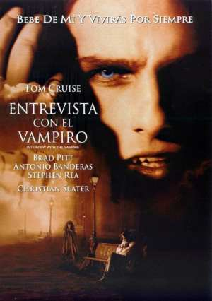 "Poster for the movie ""Entrevista con el vampiro"""