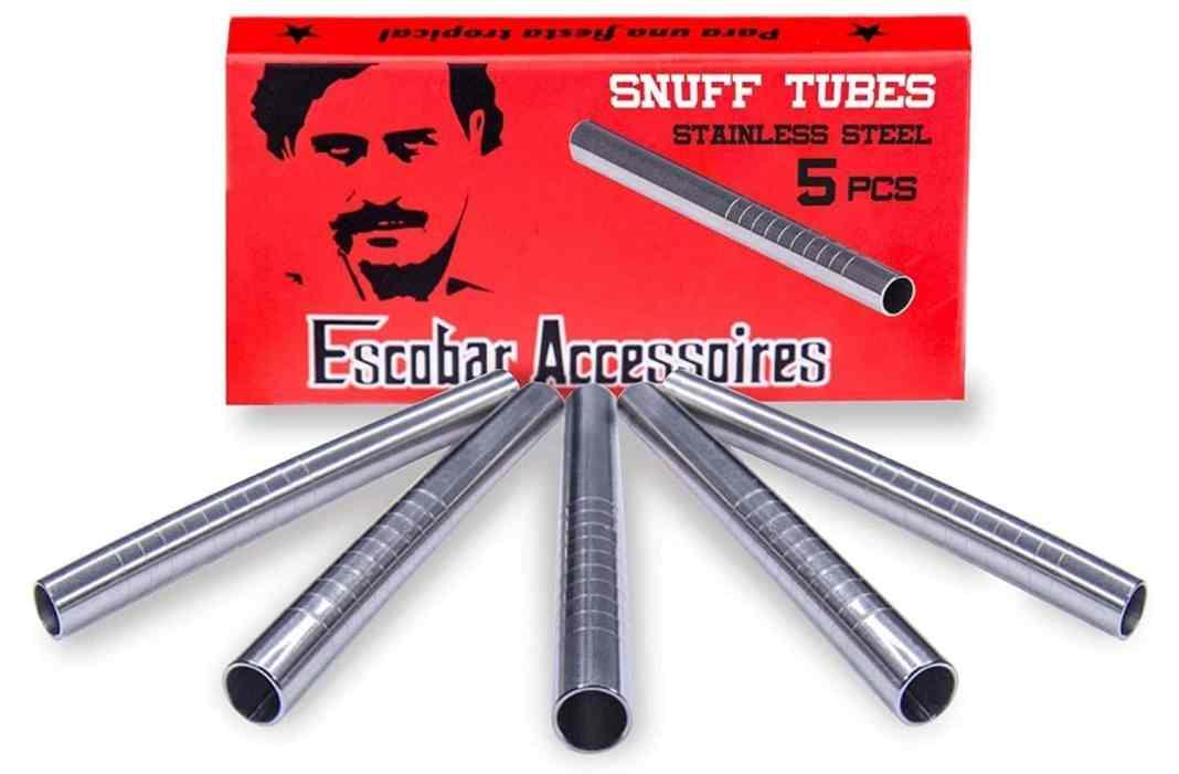Tubos de Esnifar Marca Escobar. Fuente: Amazon