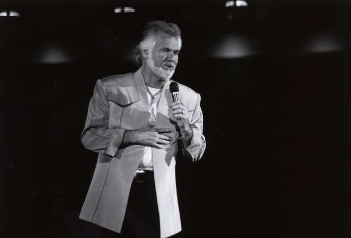 Kenny Rogers en la Universidad de Houston en 1981