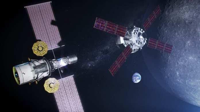 Concepto artístico de la estación Gateway. Image Credit: NASA