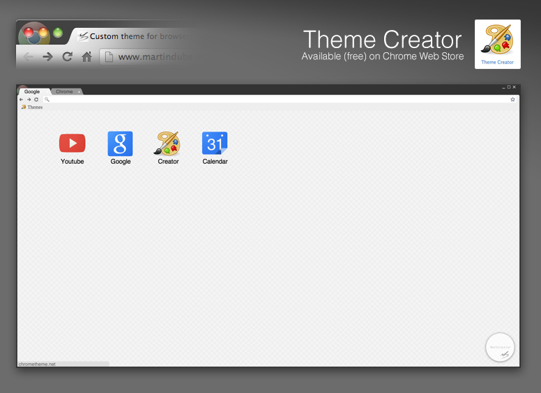 Custom Google Chrome Theme MartinDubeNet