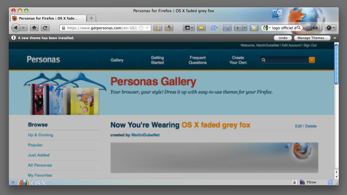 Custom Firefox Theme