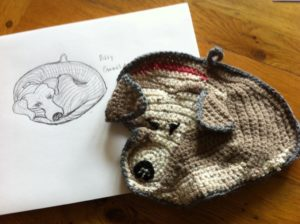 dog Billy crocheted