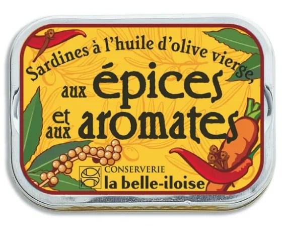 la belle iloise sardines aromates 115g