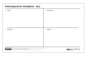 Agile Retrospective 4Ls