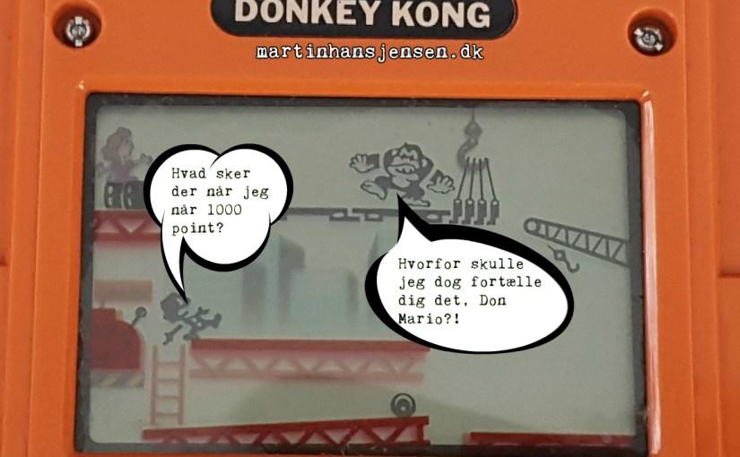 Det helt store spørgsmål anno 2017: Hvad sker der når man når 1000 point i Donkey Kong bib-bib-spillet?