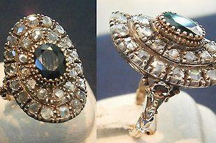anello-antico-in-oro-diamanti-e-zaffiro-blu