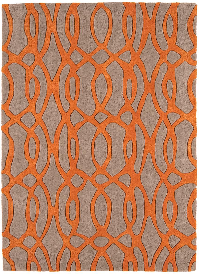navy blue kitchen rugs design stores matrix - wire orange / grey thick wool rug max37 ...