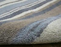 Stripes Luxury Wool Runner - Blue / Grey / Cream Rug