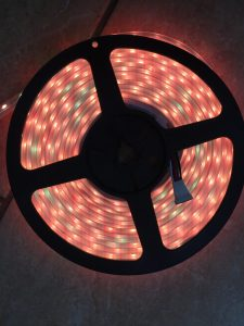 Reel of RGBW LEDs showing colour inconsistency issue