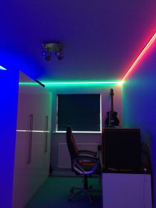 RGB Guitar Desk Area