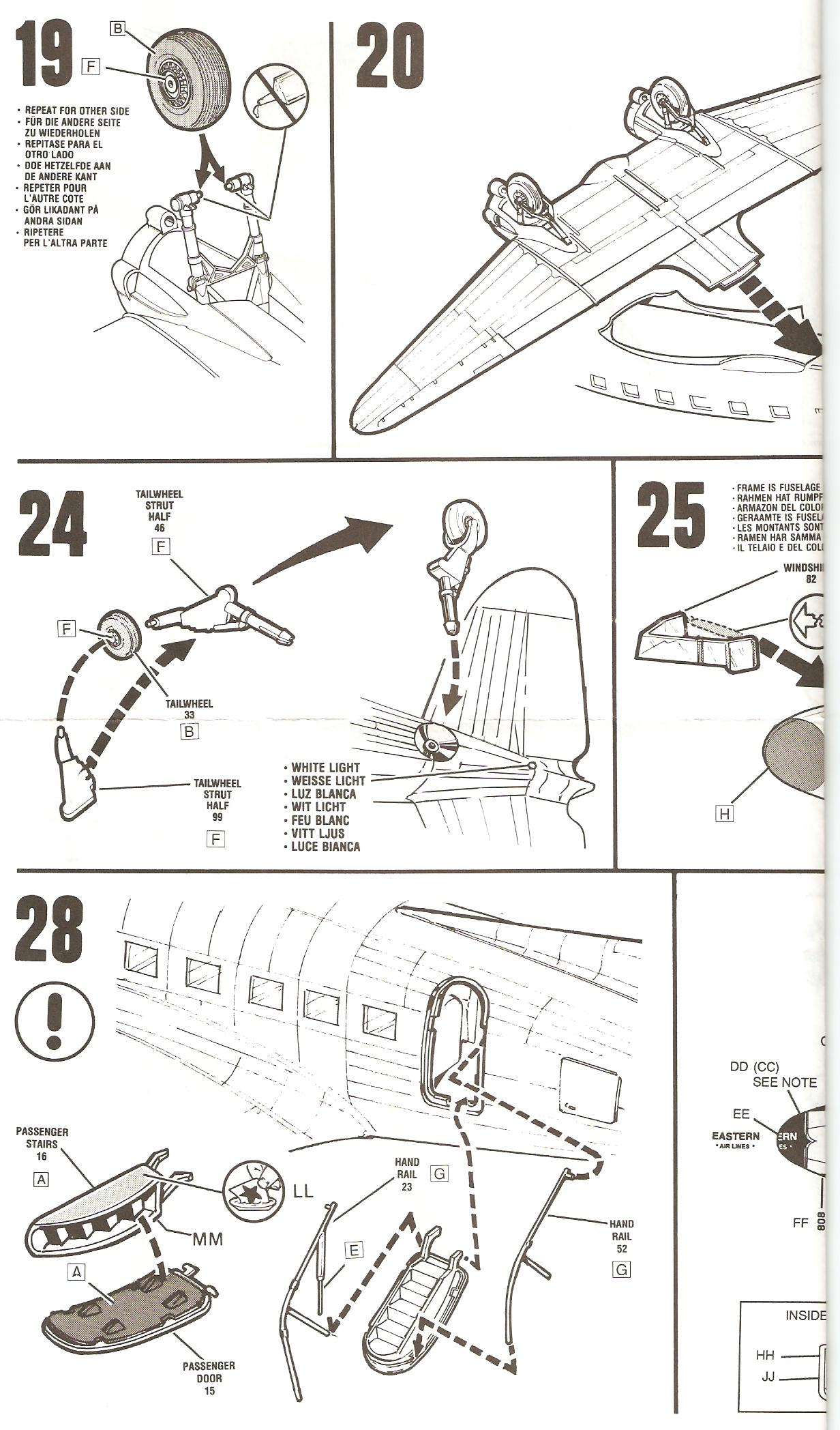 Boarding ladder for Monogram 1/48th scale C-47