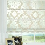 cream roman blinds