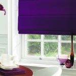 purple roman blinds