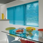 blue metal venetian blinds