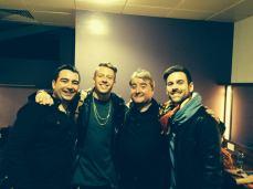 Martin and Ciaran with Macklemore and Ryan