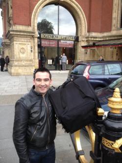 Outside the Royal Albert Hall