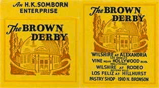Brown Derby restaurants advertisement