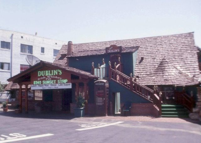 Dublin's Irish Pub – 8240 Sunset Boulevard on the Sunset Strip