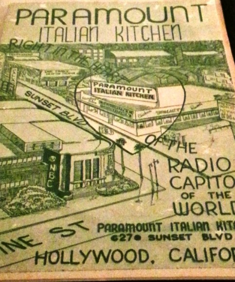 Paramount Italian Kitchen, Vine St, Hollywood 3