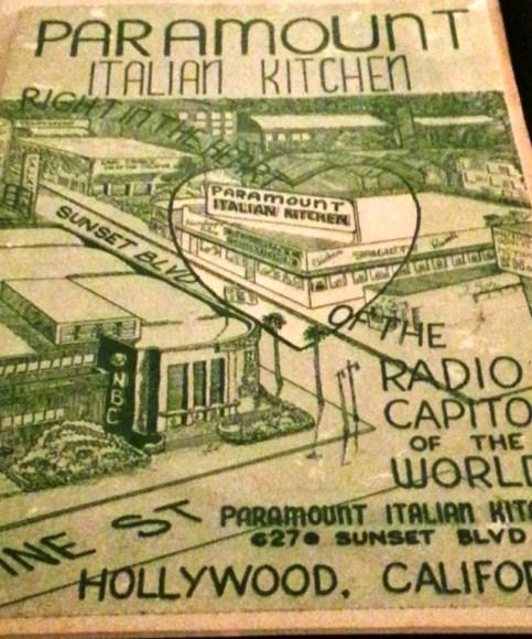 Paramount Italian Kitchen, Vine St, Hollywood 3