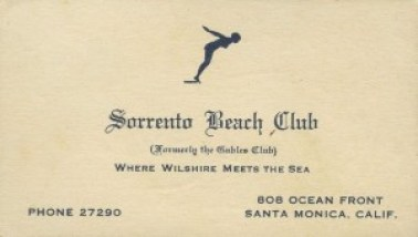 Sorrento Beach Club, Santa Monica