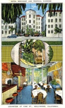 Hotel Brevoort (and Tropical Gardens), Hollywood, CA