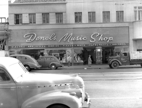 Denels Music Shop 6634 Hollywood Blvd.