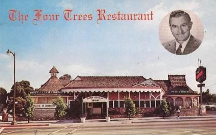 Four Trees Restaurant - 7800 Sunset Boulevard Phone HO 6-1129