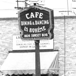 Cafe La Boheme sign