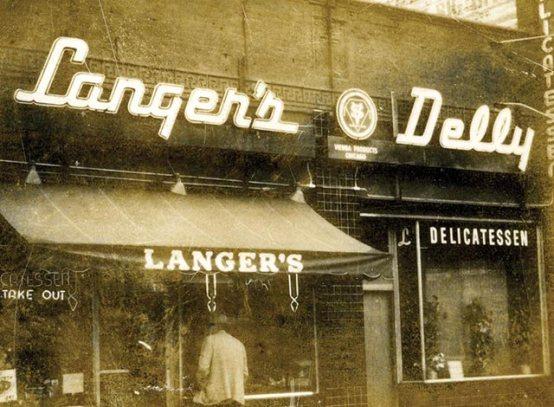 Langer's Delicatessen, downtown Los Angeles, around 1950