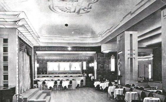 Interior of Clara Bow's It Cafe, Vine Street, Hollywood