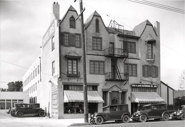 Hotel Iris (later the St. Moritz) on Sunset Blvd where Judy Garland and family stayed on vacation in 1926.