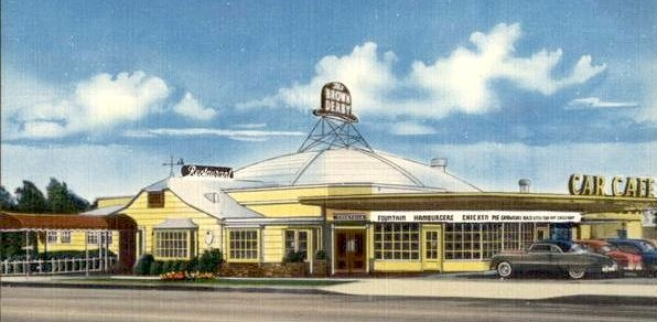 Brown Derby Los Feliz postcard