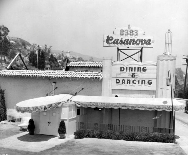 Club Casanova, 8383 Sunset Boulevard, 1936.