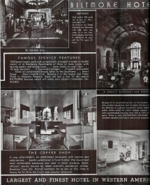 Biltmore Hotel Promotional Brochure Downtown Los Angeles